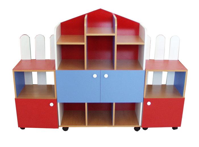 Стенка для игрушек Домик