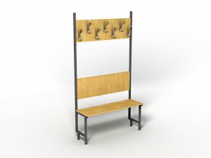 Вешалка гардеробная со скамьей в Караганде