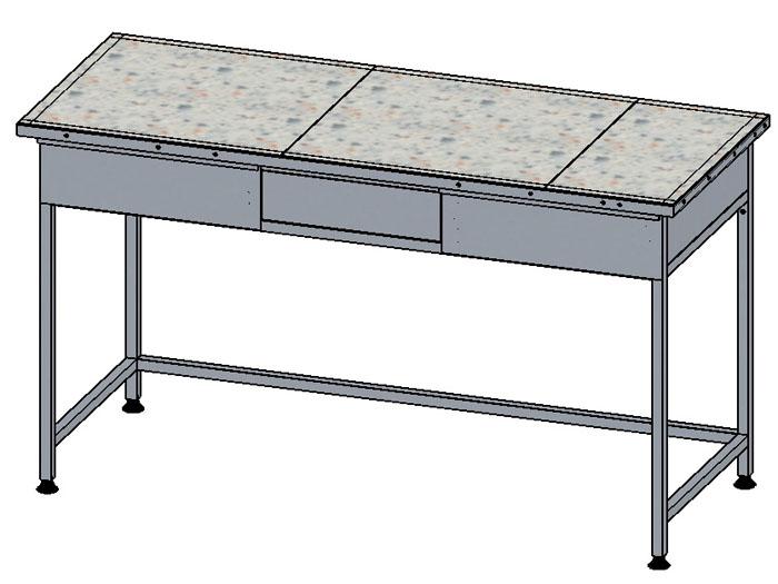 Стол лабораторный с керамогранитной плиткой
