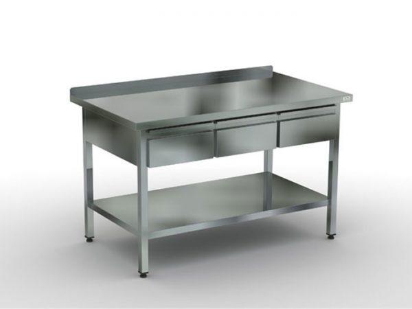 стол производственный с 3 ящиками в Караганде